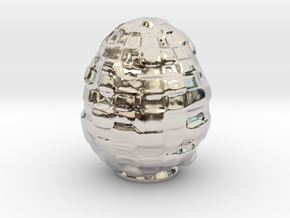 The Blockchain Egg . (75-125-175mm) in Platinum: Small