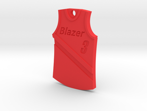 Blazer Jersey in Red Processed Versatile Plastic