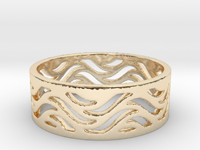 Waves of Love  in 14K Yellow Gold
