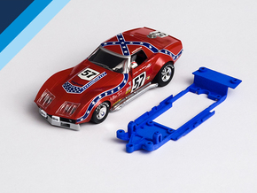 1/32 Scalextric Corvette L88 Chassis for SW pod in Blue Strong & Flexible Polished