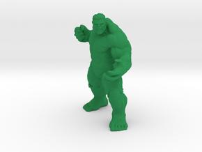 1/24 Angry Hulk for Diorama in Green Processed Versatile Plastic