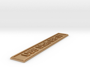 Nameplate USS Utah BB-31 in Natural Bronze