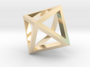 Octahedron mesh pendant in 14K Yellow Gold
