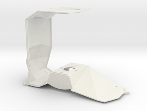 1/24 Mid section structure in White Natural Versatile Plastic