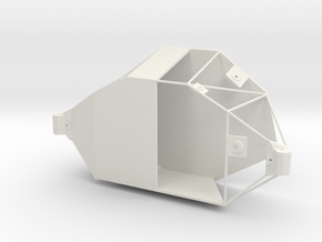 1/24 Aft section rod structure in White Natural Versatile Plastic