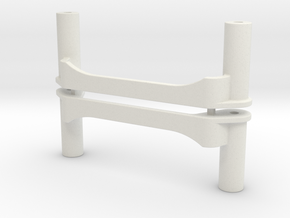 0015 - Top Force J9+14, Battery Cradle in White Natural Versatile Plastic