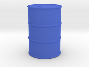 Oil Drum Token in Blue Processed Versatile Plastic