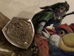 Link's Shield Pendant in Stainless Steel