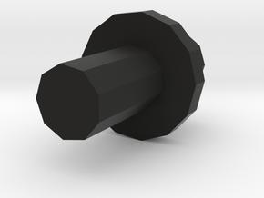 Greenlight Gooseneck to ERTL bed hole adapter in Black Natural Versatile Plastic