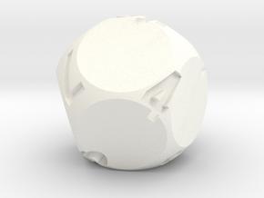 d9 Sphere Dice in White Processed Versatile Plastic