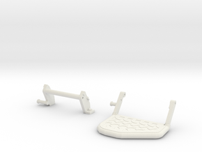 Moveable step rear bumper D90 D110 in White Natural Versatile Plastic