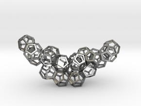Dodecahedrons pendant in Natural Silver