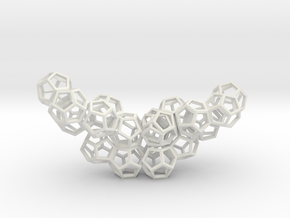 Dodecahedrons pendant in White Natural Versatile Plastic