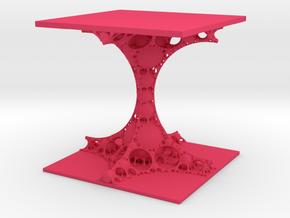 Fractal Bulb Column in Pink Processed Versatile Plastic