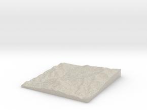 Model of Cerro Cuisaltepe in Natural Sandstone