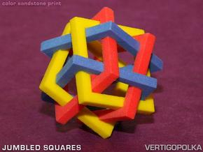 Jumbled Squares in Full Color Sandstone