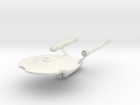 "USS Constellation  Damaged 3"" in White Natural Versatile Plastic"