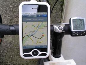 """iPhone 4 bike mount assembly 1 1/4"""" in White Natural Versatile Plastic"""