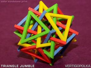 Triangle Jumble in Full Color Sandstone