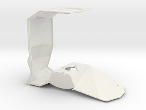 1/32 Mid section structure in White Natural Versatile Plastic