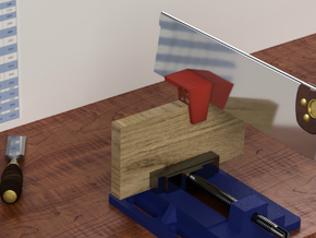 Dovetail Saw Guide (1:6 or 9.5°) in Red Processed Versatile Plastic