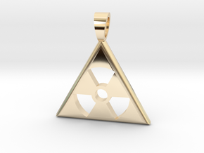 Nuclear danger [pendant] in 14k Gold Plated Brass