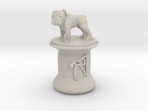 Personalised Hwa Bun Pot + Bulldog in Natural Sandstone