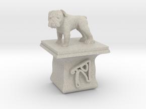 Personalised Hwa Bun Square Pot + Bulldog in Natural Sandstone