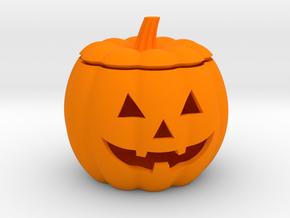 Halloween Pumpkin LED candle holder in Orange Strong & Flexible Polished