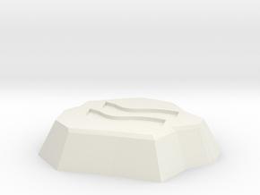 Earth Rune in White Natural Versatile Plastic