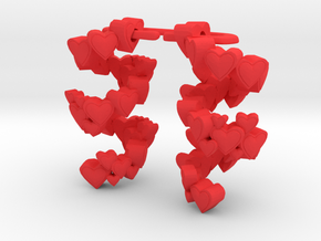 Heart tornado  in Red Processed Versatile Plastic