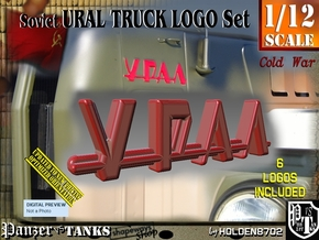 1/12 Ural Truck Logo Set in Smooth Fine Detail Plastic