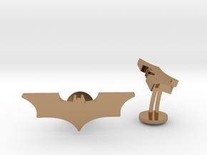 Batman Dark Knight Wedding Cufflinks in Polished Brass