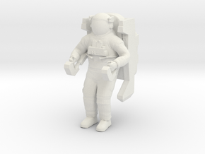 1/24 Astronaut Working in Space in White Natural Versatile Plastic