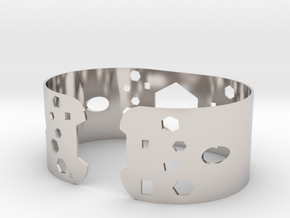 Geometric bracelet in Platinum