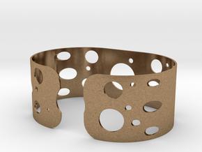 Circles bracelet in Natural Brass