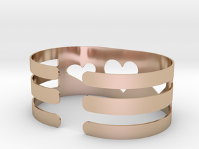 Valentine Heart bracelet in 14k Rose Gold Plated Brass