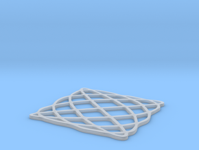 Lissajous coaster 4:5 pi/2 in Frosted Ultra Detail