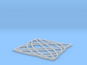 Lissajous coaster 5:6 pi/4 in Frosted Ultra Detail