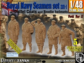 1/48 Royal Navy Duffel Coat Set201-1 in Smooth Fine Detail Plastic