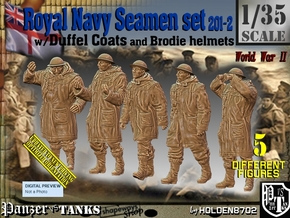 1/35 Royal Navy Duffel Coat Set201-2 in Smooth Fine Detail Plastic