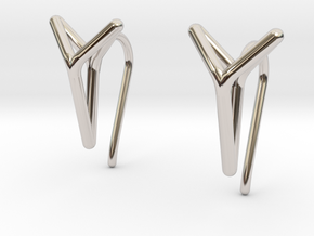 YOUNIVERSAL One Earrings in Platinum: Extra Small