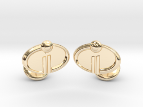 The Incredibles 2 Cufflinks in 14k Gold Plated Brass