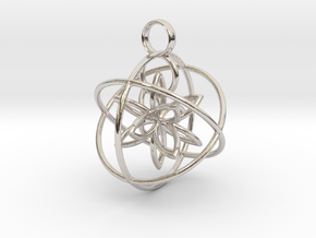 The flower within in Rhodium Plated Brass