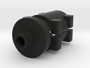 14mm- Barrel Adapter for Sniper Rifle in Black Natural Versatile Plastic