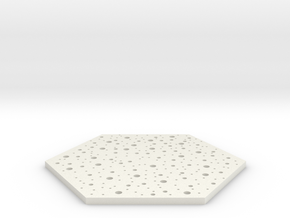 Thin Coaster in White Natural Versatile Plastic