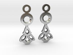 Little Flowers. Earrings in Polished Silver