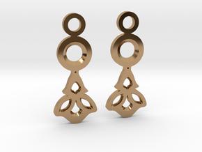 Little Flowers. Earrings in Polished Brass