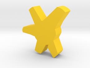 Flora Keychain in Yellow Processed Versatile Plastic