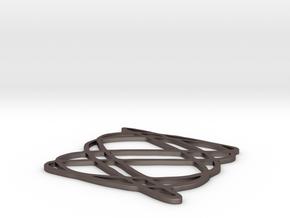 Lissajous coaster 3:5 pi/4 in Polished Bronzed Silver Steel